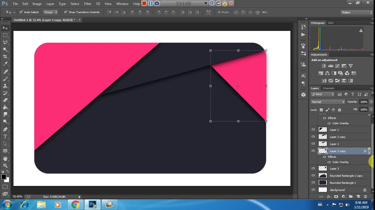 Professional Business Card Design Tutorial Photoshop (တစ္ကိုယ္ေတာ္ နည္းပညာ)