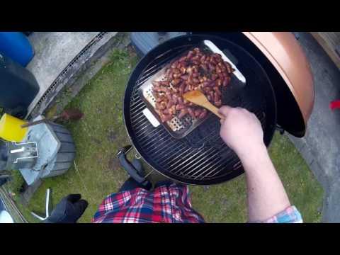 Video #004 Schubi´s BBQ Berlin Hühnerherzen Mariniert & Gegrillt