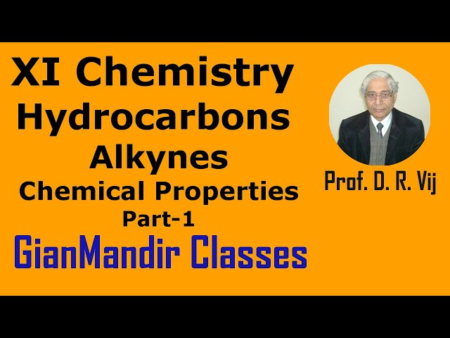 XI Chemistry | Hydrocarbons | Alkynes | Chemical Properties Part-1 by Ruchi Ma'am