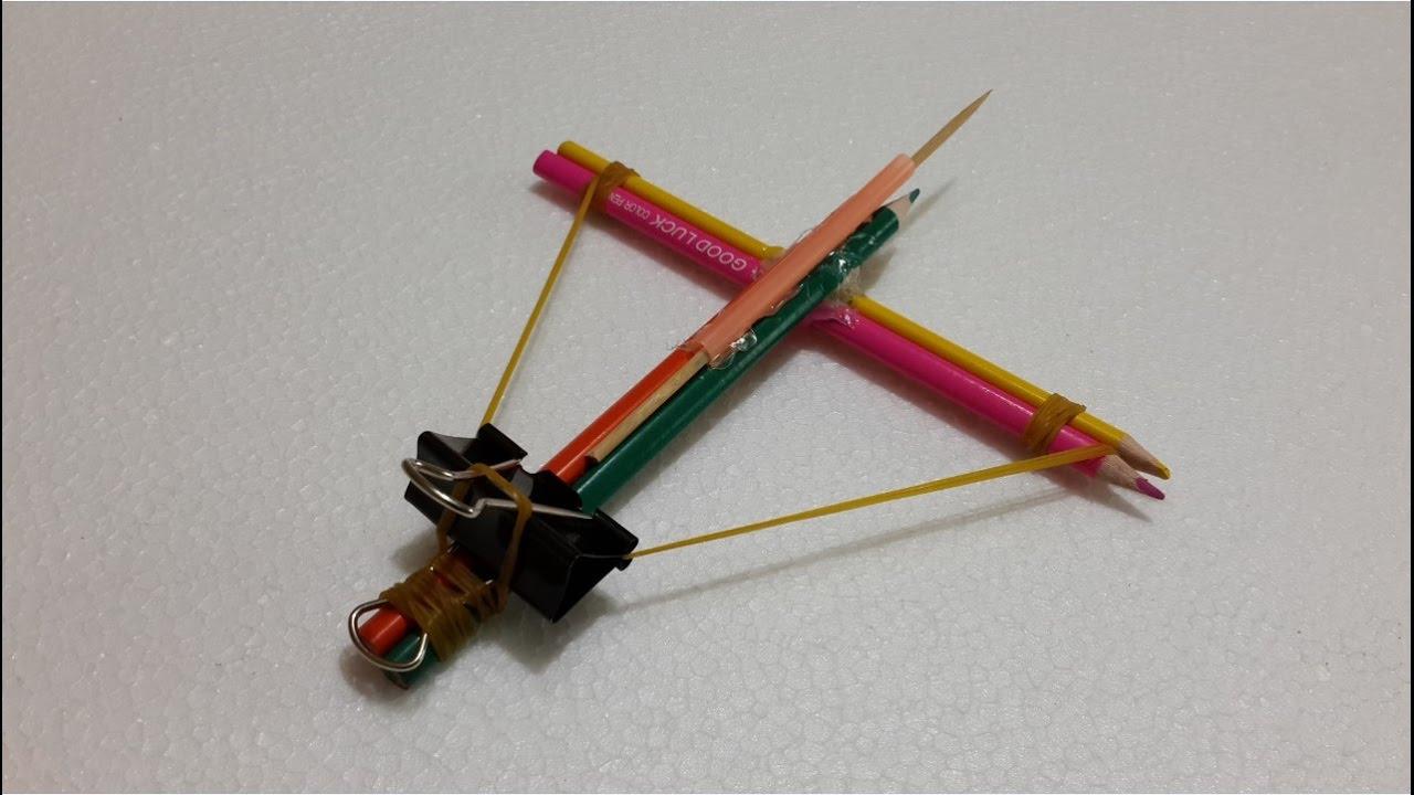 How to make a pencil gun - Best Kids life hacks - YouTube