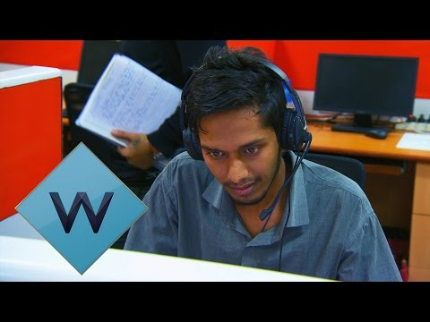 Staff Take A Mock Call Centre Test | Nev's Indian Call Centre | W