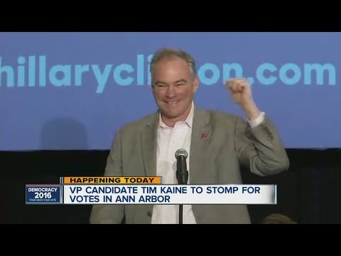 Democratic VP candidate Tim Kaine to stop in Ann Arbor