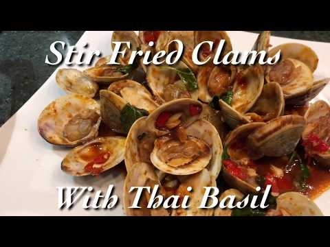 How to Cook the Best Stir-Fried Clams with Thai Basil at Home | Plair's Kitchen