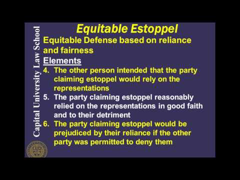 Remedies Video Lecture 9 - Equitable Defenses