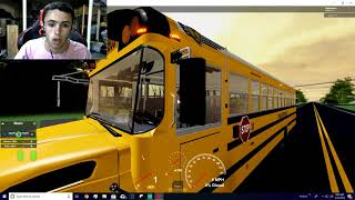ROBLOX, SCHOOL BUS SIMULATOR, I RAN OVER A BUNCH OF KIDS!!