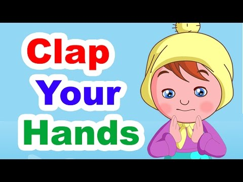 Clap Your Hands Listen To The Music | Nursery Rhyme with Lyrics | Kids Songs | Poems For Kids