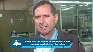 Zé de Fátima reclama do descaso da Prefeitura com água parada na Rua Raimundo Alves em Flores