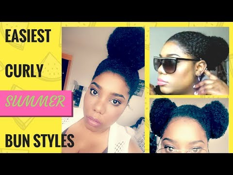 Issa Bun Hairstyle | Super Cute & Easy Ways to Style Your Buns on Naturally Curly Hair for Summer!