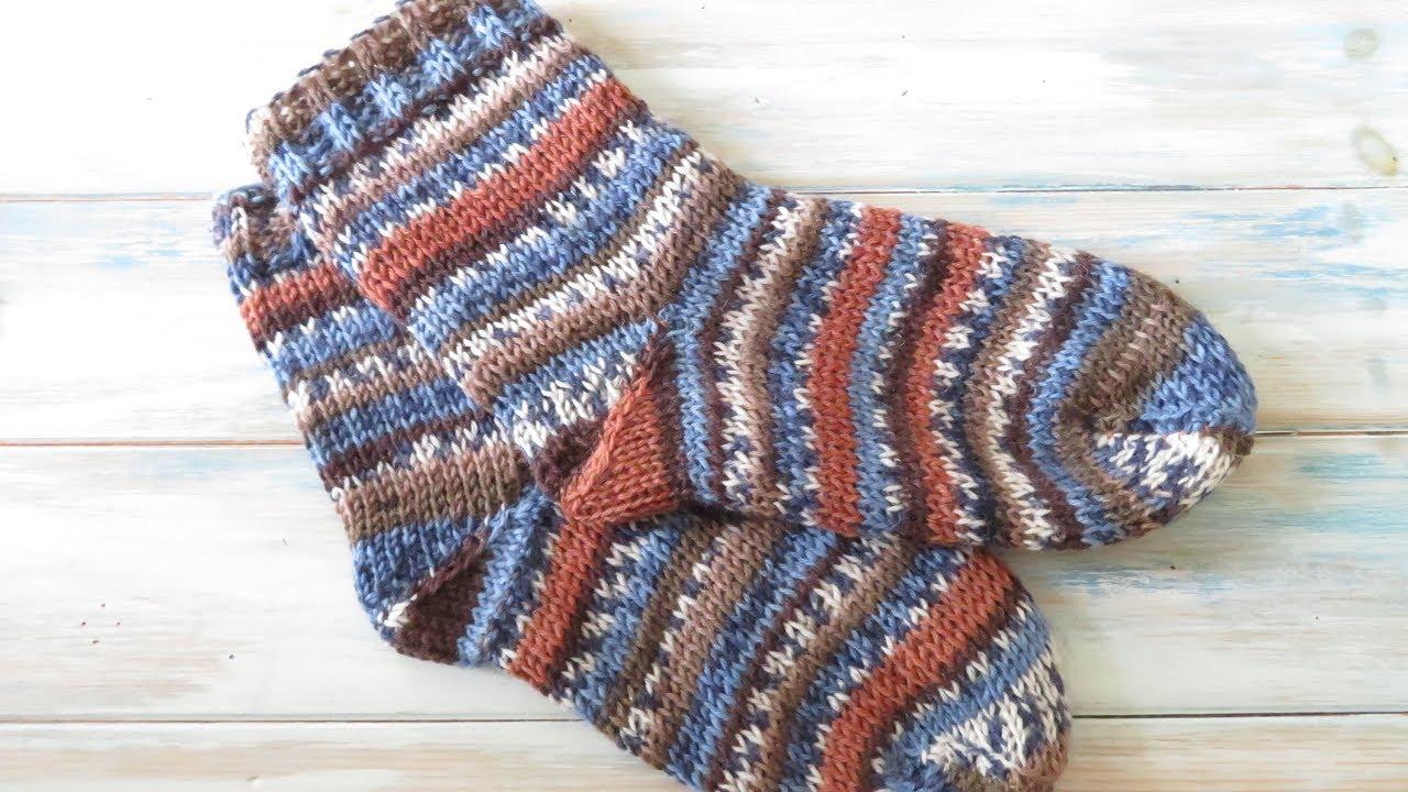 Knit Stitch Tunisian Crochet Socks