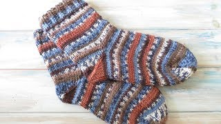 Knit Stitch Tunisian Crochet Socks