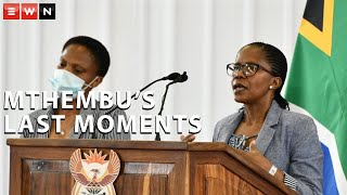 Nurse Mavis Mahlakoana recounted the late Jackson Mthembu's last moments while he was in hospital during his funeral on Sunday in Ackerville.  #COVID19 #JacksonMthembu #RIPJacksonMthembu