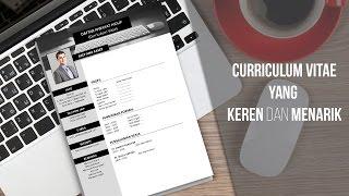 Cara Membuat Curriculum Vitae yang Keren dan Menarik Menggunakan Microsoft Word / Cool Resume