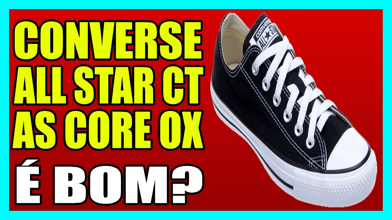 TÊNIS CONVERSE ALL STAR CT AS CORE OX - YouTube 8b088de692f85