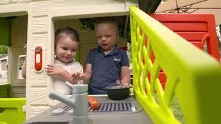 Обзор детского домика с кухней Smoby Friends 810200
