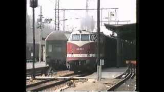 Erfurt Hauptbahnhof, 8.4.1992 - Ausfahrt Richtung UDSSR mit Baureihe 228