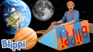 Blippi Builds A Rocketship! Learn About The Solar System | Science Videos For Kids!