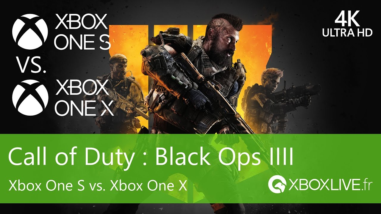 Comparaison Xbox One S Vs Xbox One X Call Of Duty Black Ops 4