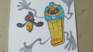 How to draw Pokemon: No.562 Yamask, No.563 Cofagrigus