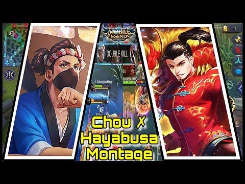 CHOU ✗ HAYABUSA MONTAGE   (TWO IN ONE MONTAGE)   MOBILE LEGENDS BANG BANG thumbnail