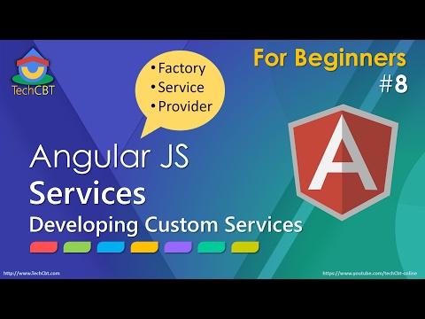 AngularJS: Developing Custom Services (factory vs service vs Provider)