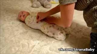 Как пеленать малыша. Пеленка на липучках EasySwaddle