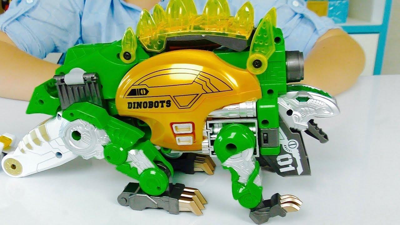 ТРАНСФОРМЕРЫ Роботы Для детей ДИНОЗАВР Dinobots для мальчиков Распаковка