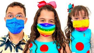 SARAH e uma HISTÓRIA da MÚSICA DA MÁSCARA - MÚSICAS PARA CRIANÇAS | Kids song | Canciones Infantiles