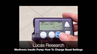Video thumbnail: Medtronic Insulin Pump: How To Change Basal Settings