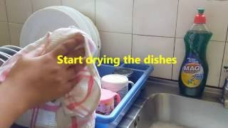 I can learn how to wash dishes | Quick and easy video tutorial for beginners