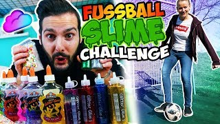 FUSSBALL SLIME CHALLENGE mit Kaan vs. Kathi! Wer trifft, darf seinen eigenen DIY Schleim machen!