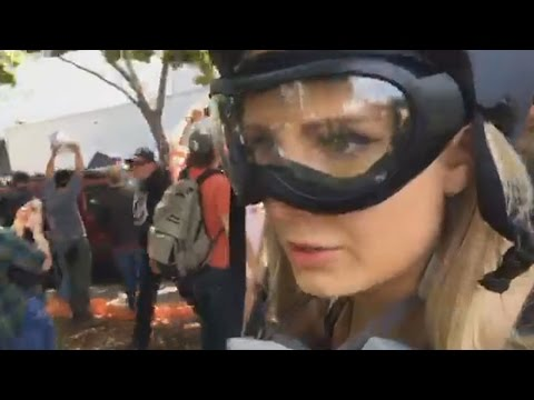 Lauren Southern Coverage of Antifa vs Trump Supporters Battle