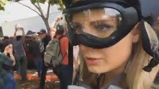 Lauren Southern Coverage of Antifa vs Trump Supporters Battle