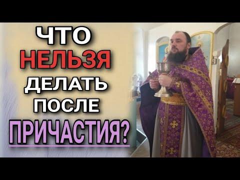 Что нельзя делать после причастия. о.Максим Каскун
