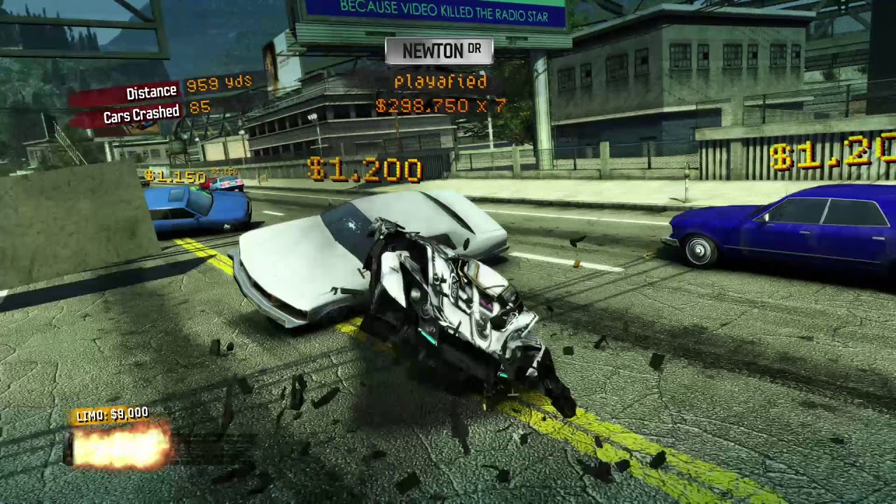 7 000 000 showtime in burnout paradise remastered xbox. Black Bedroom Furniture Sets. Home Design Ideas