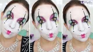 Colorful Mime Makeup Tutorial by EyedolizeMakeup