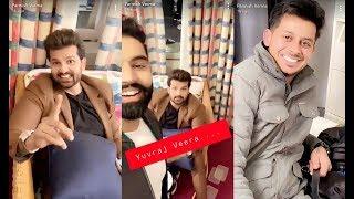 Parmish Verma Fun With Yuvraj Hans , Laddi , Bhullar on Jinde Meriye Shoot