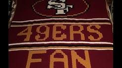 49ers lap blanket graphghan