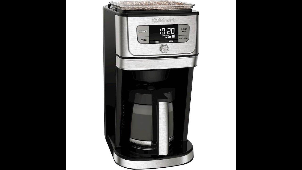 Cuisinart Dgb 800 Burr Grind Brew Coffeemaker Review Excellent Youtube