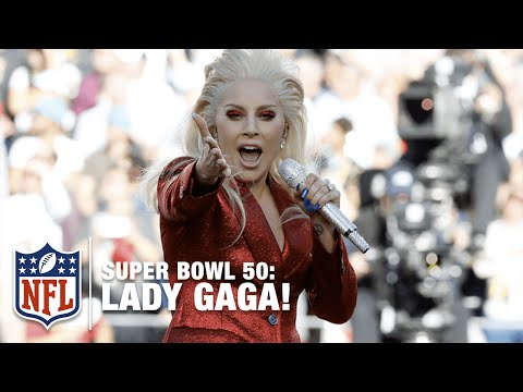 Lady Gaga Sings the National Anthem at Super Bowl 50  NFL