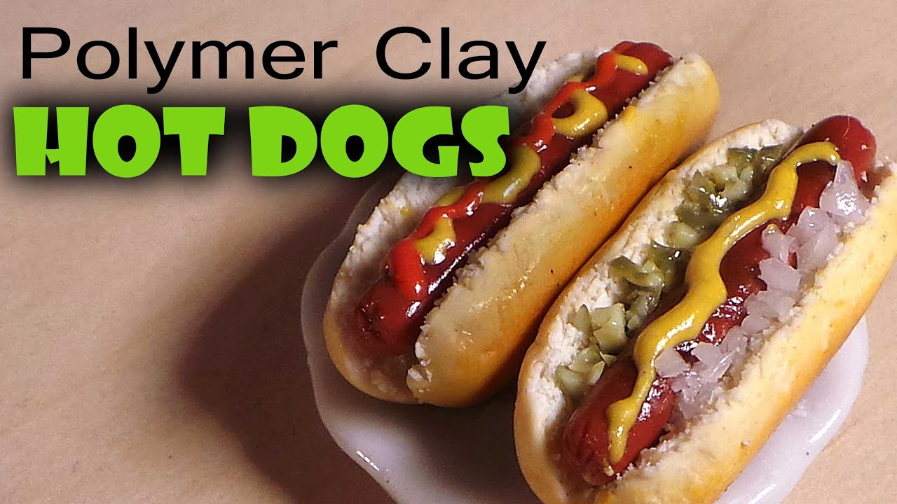 Polymer Clay Hot Dog