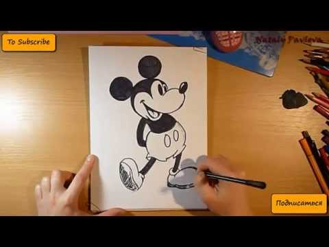 pencil-drawing---mickey-mouse-(disney)