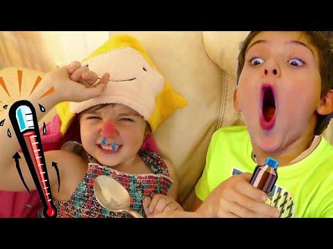 Sick Song By Nastya - Nursery Rhymes & Kids Children Songs    病気の歌