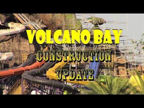 Universal Orlando Resort Volcano Bay Construction Update 2.28.17 More New Slides / Themeing + More!