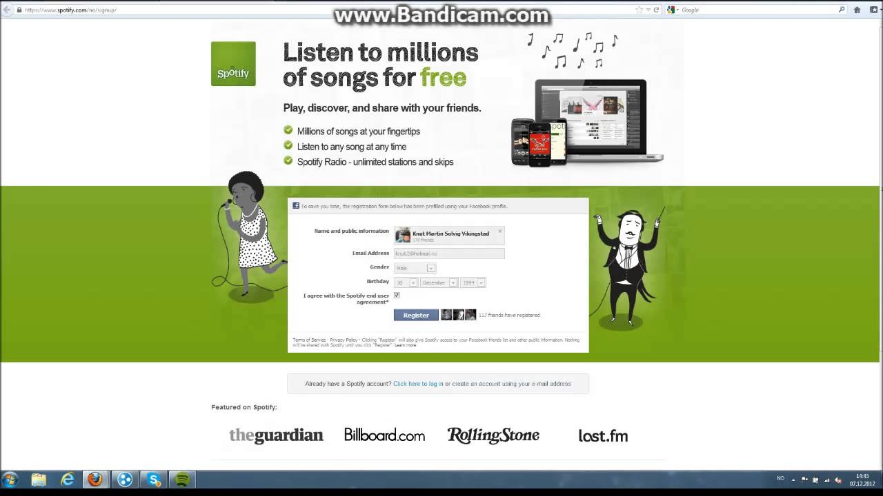 Tutorial  Spotify  Register Without Facebook