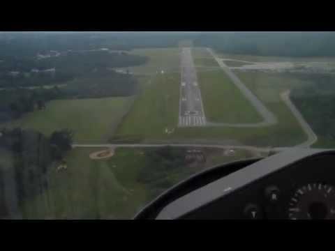Glider Steep Full Flap Landing Approach