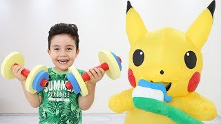 Yusuf and Pikachu Funny Morning Routine