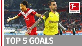 Top 5 Goals on Matchday 11 -  Reus, Alcacer, Usami & More