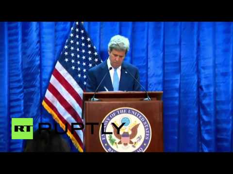 Iraq: John Kerry says IS 'is unequivocally losing ground'