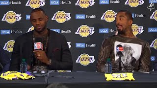 Lebron Reacts To The Lakers Signing Jr Smith!