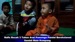 Nafis Bocah 3 Tahun Lucu Dan Unyu Asal Ponorogo Pandai Bersholawat Sambil Main Kompang